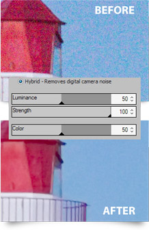 Noise reduction in ACDSee 15
