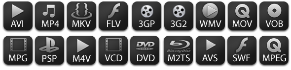 acdVIDEO Converter 2 supported formats