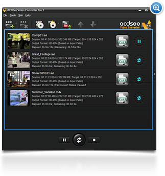 ACDSee Video Converter 3 multiple videos