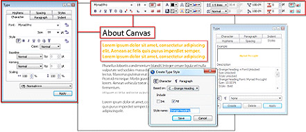 Canvas 14 text editor