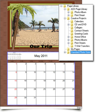 Create custom calendars with Fotoslate 4