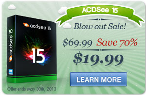 ACDSee 15 Blow out sale!