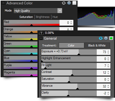 Advanced Color Adjustments in ACDSee Pro 6