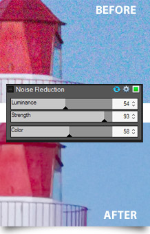 Noise reduction adjustments in ACDSee Pro 6