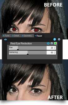 Red eye adjustments in ACDSee Pro 6