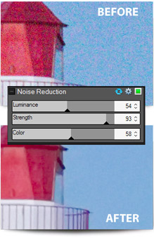 Noise reduction in ACDSee Pro 6