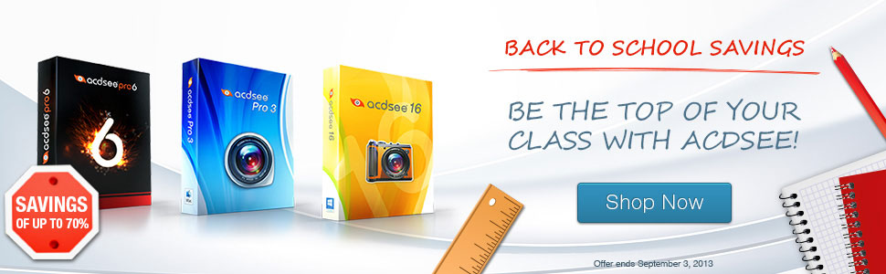ACDSee Back to School Sale