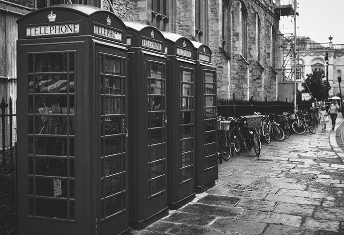 Phone Booths in a row