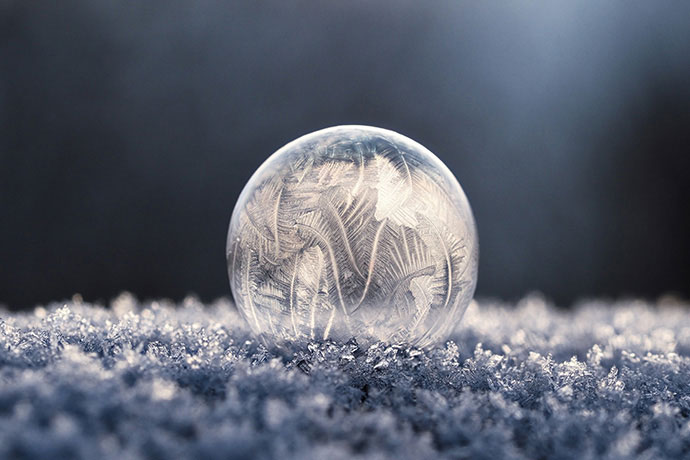Macro Frozen Water