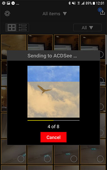 Uploading - Mobile Sync