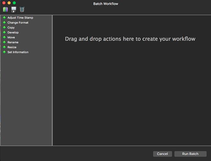 Batch edit dialog box