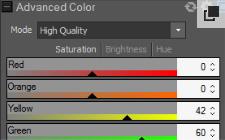 Funzioni colore avanzate